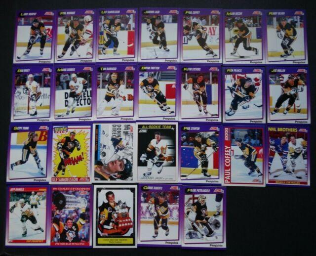 1991-92 Score American Pittsburgh Penguins Team Set of 26 Hockey Cards