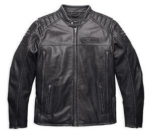 Pelle Giacca Antracite Harley Sdrucito Uomo 16vm Di 98108 Davidson Medi 2xl HIXxqPwn0x