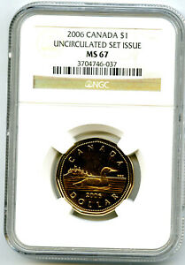 2006-CANADA-LOON-NGC-MS67-UNCIRCULATED-LOONIE-EXTREMELY-RARE-TOP-POP-ONLY-1