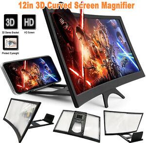 "12"" Mobile Phone Screen Magnifier 3D HD Video Amplifier Smartphone Stand Bracket"