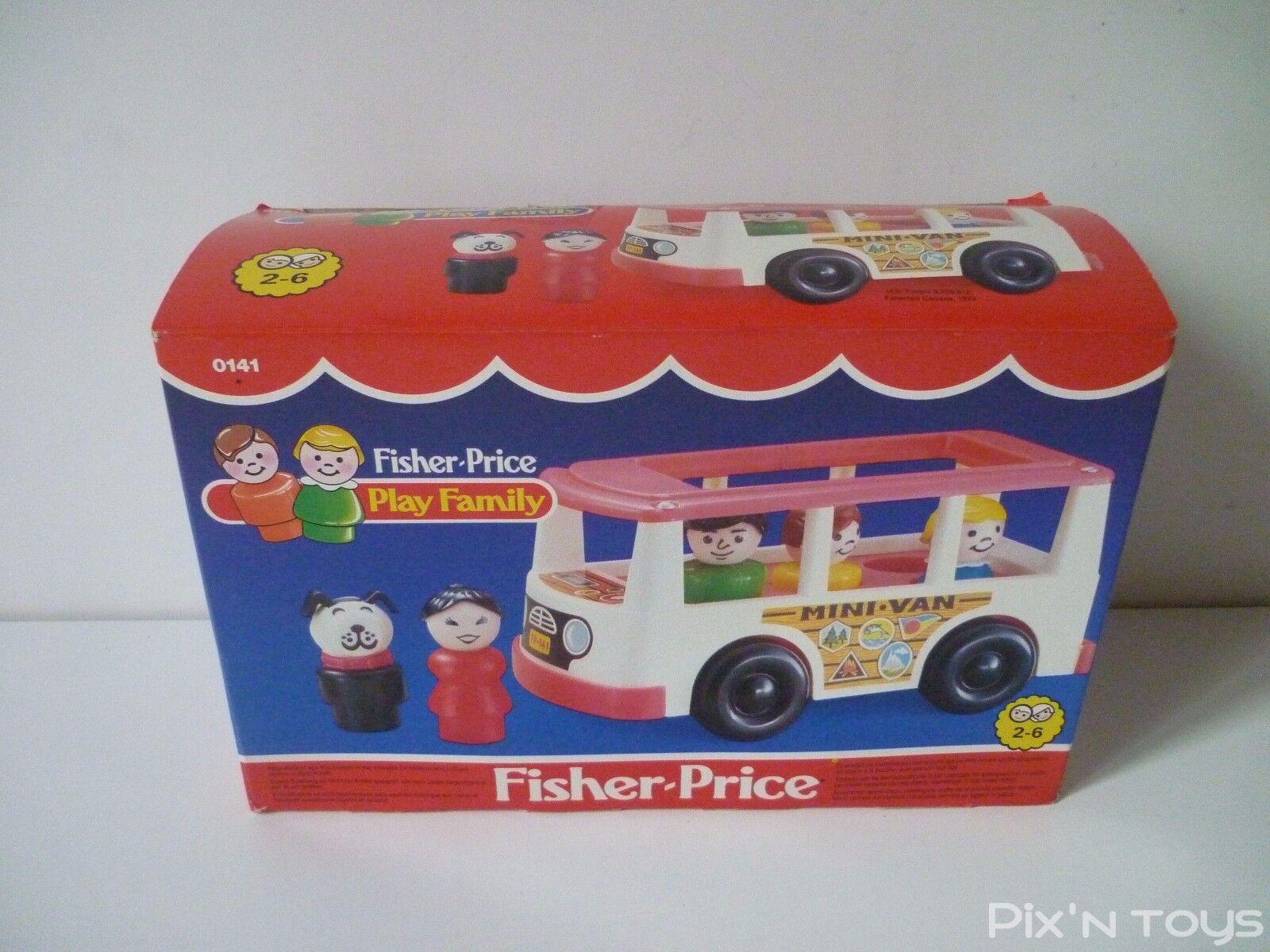 Fisher-Price Vintage 1987   FP Play Family Minibus Mini Van 0141