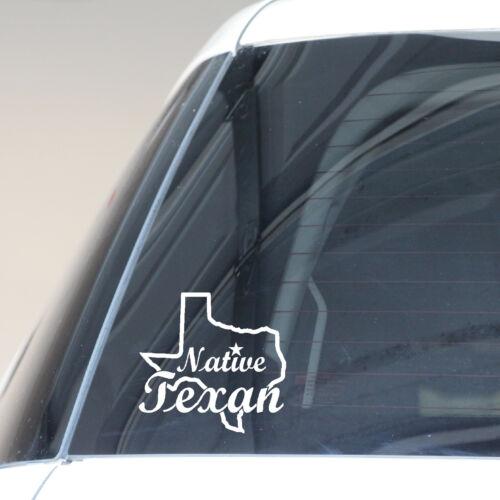 Native Texan Decal Texas Map Lone Star Texans Cowboys Spurs Houston Dallas