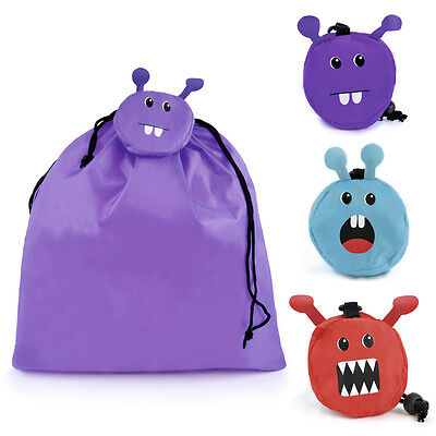 Responsabile Zest Per Bambini Pieghevole Monster Coulisse Palestra Borsa Pompa-