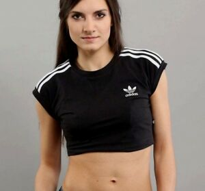 275c6195 MED adidas Originals Women's 3 STRIPES CROPPED TEE BJ8178 SZ: UK14 ...