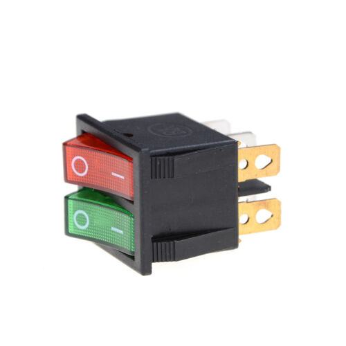 Red Green Light 6Pins Double SPST On//Off Boat Switch 16A 250V AC 20A 125V AC EP