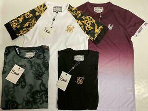 Nuevo-Para-Hombre-de-Disenador-Sik-Seda-SikSilk-King-Camiseta-Manga-Corta-Gimnasio-Prenda-para-el