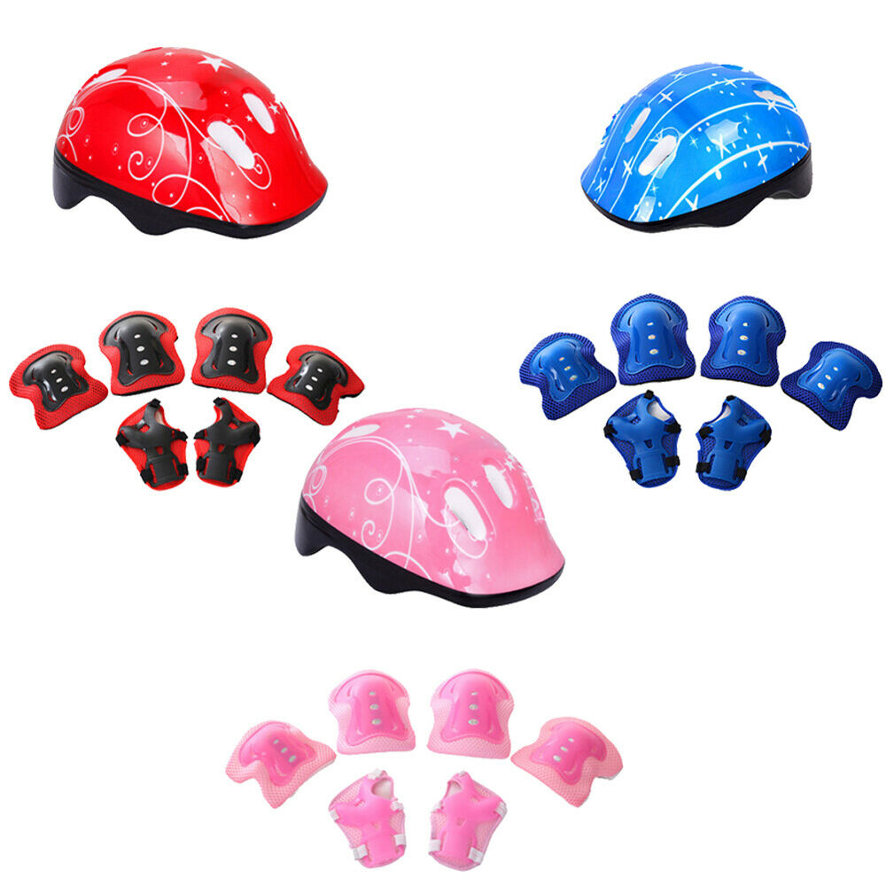 Children Helmet Pad Set and Knee Elbow and Wrist  Bike Hover