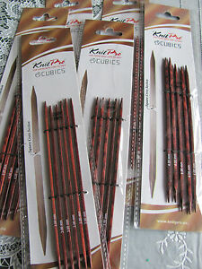 15cm 5x Knitpro Cubics Double Pointed Knitting Needles