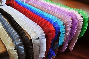 Lovely 1//2 inch wide ruffled lace trim= selling by the yard //select color//