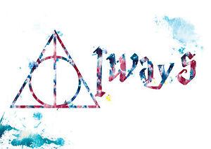 Harry Potter Ly Hallows Fan Print Poster Bedroom Decor Wall Art