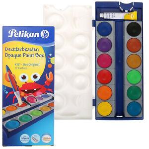 Pelikan Deckfarbenkasten K12 inkl. Deckweiss Wasserfarbkasten Wasserfarben WAHL