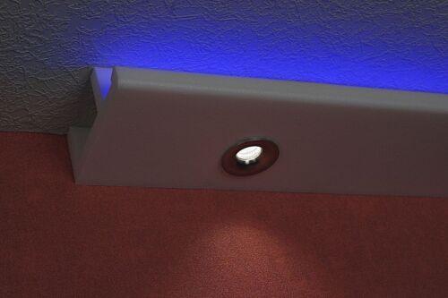 """16 Meter Deckenleiste /""""Rabac/"""" für LED Beleuchtung mit 4 Ecken"""