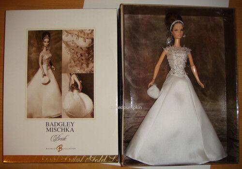 BARBIE BADGLEY MISCHKA BRIDE DESIGNER DOLL 2003 NUOVA BELLISSIMA