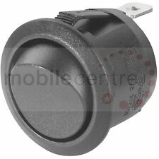 Mini round on off rocker switch snap in mounting 10 Amp