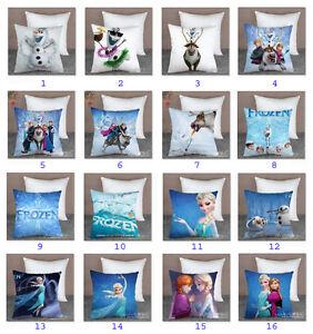 Disney-Frozen-Elsa-Anna-Olaf-Sven-Hans-Pillow-Case-Cover-Car-Bed-Sofa-Cushion