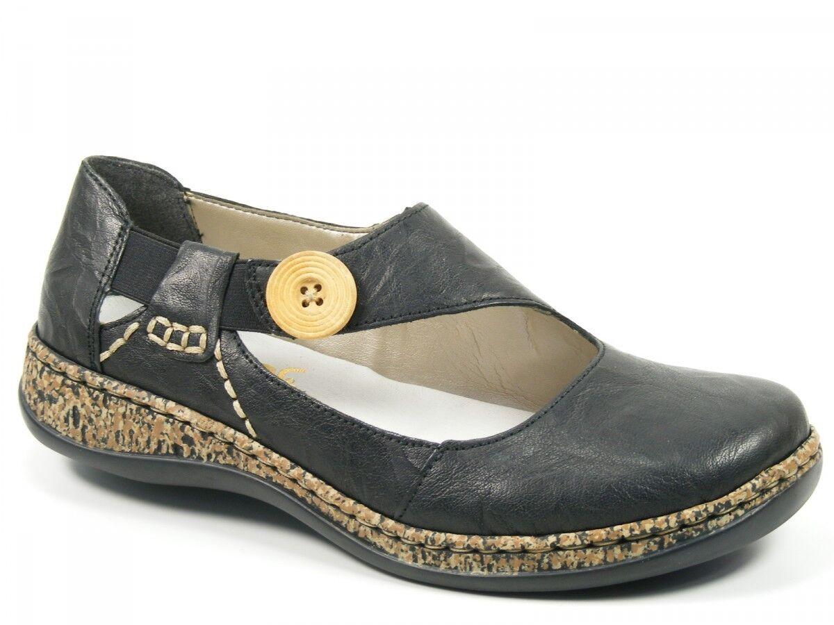 Rieker chaussures femmes chaussures Basses Ballerines noir 46364-00