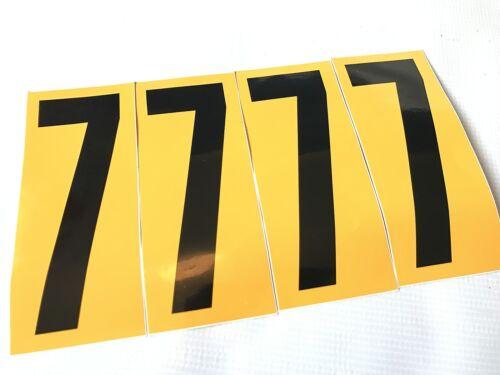 Lot de 4 noir nº 7 fond jaune-tkm rotax tonykart intrepid go kart