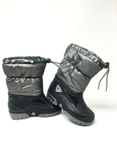WATERPROOF BLACK WINTER SKI SNOW BOOTS SIZE INFANT 9 10 11 12 ADULT KIDS 1 2 3 4
