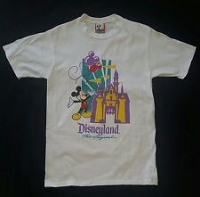 VINTAGE 80s MICKEY MOUSE AND THE CASTLE  DISNEYLAND DISNEY DESIGNS  T-SHIRT M