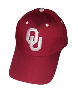 Image is loading Oklahoma-Sooners-Cap-Adjustable-OU-Logo-Hat-Choose- 8513e05c2789