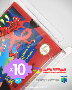 10-BOITIERS-PROTECTION-PROTECTIVE-CASE-SUPER-NINTENDO-SNES-N64-0-4-mm-NEUFS