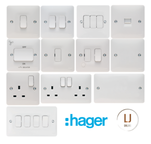 Hager-Sollysta-Range-Switch-Socket-Accessories-White-Moulded-New