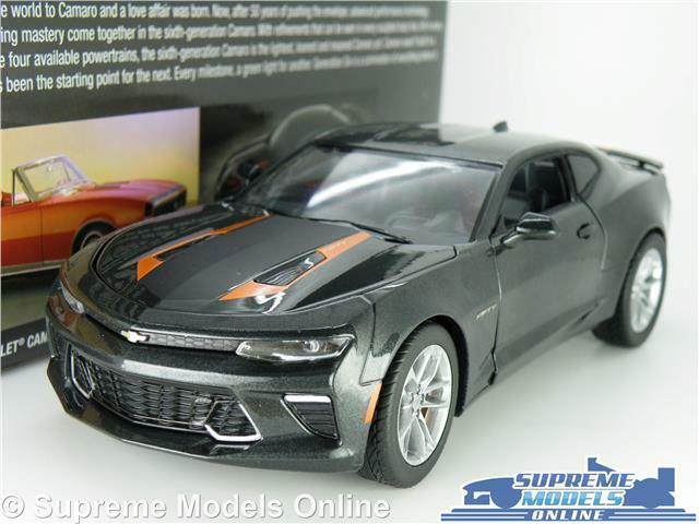 CHEVROLET CAMARO SS MODEL CAR 1 24 SIZE GREY 50TH ANNIVERSARY LARGE GREENLIGHT K