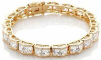 Victoria Wieck Gold Over Ss Absolute princess Peak Tennis 7 Vermeil Bracelet