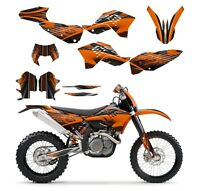 Ktm Exc Xcf 125 250 300 450 530 Graphics Kit 2008 2009 2010 2011 No3333 Orange