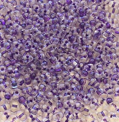 CRAFT BEADS 50 X10MM SPARKING PURPLE SILVER FLOWER DRILLED ACRYLIC ROUND BEADS