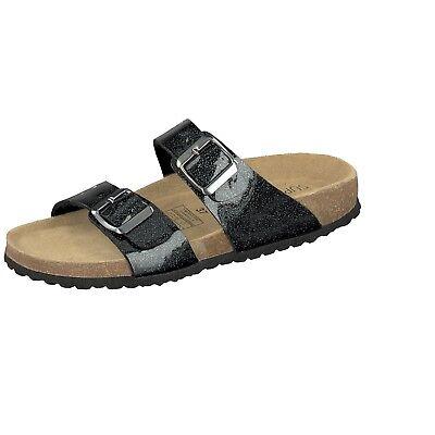 Softwaves Shoes Damen Hausschuhe Design Logo Hüttenschuhe Filz Pantoffeln grau