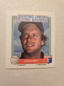 GEORGE BRETT 1988 Starting Lineup Talking Baseball  Parker Bros. RARE NM-MT NICE