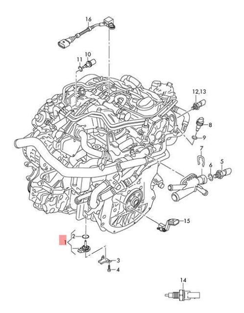 Buy Genuine Oil Level Sensor Audi A4 Allroad Quattro S4 03l907660
