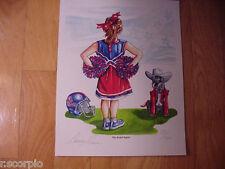 Ole Miss Rebels Cheerleader Rebel Spirit Limited Edition 11 X 14 Print