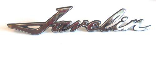 "three pins,zinc based metal chromed 1972 AMC /""Javelin/"" script 6/"" in length"