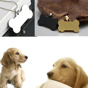 Bone-Shape-Steel-Stainless-Engraved-Cat-Pet-ID-Name-Dog-Tag