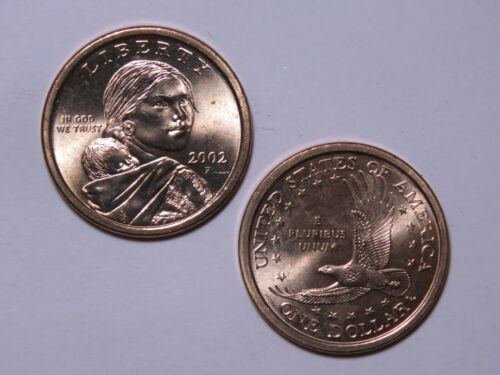 2002-P Sacagawea Native American Dollar Uncirculated from US Mint Rolls