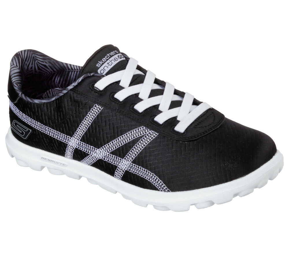 NEW SKECHERS Women Casual Sneakers Trainers Slipper Loafer ON-THE-GO ARENA Black