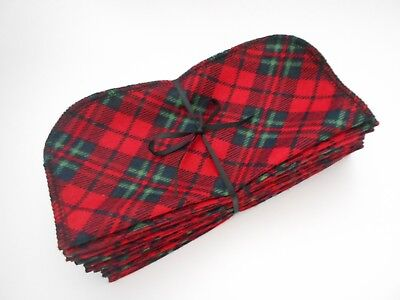 "Baby Wipes Diligent Cloth Wipes 20 Baby Flannel 8""x8"" Black Red Green Plaid Rustic 1 Or 2 Ply And To Have A Long Life."
