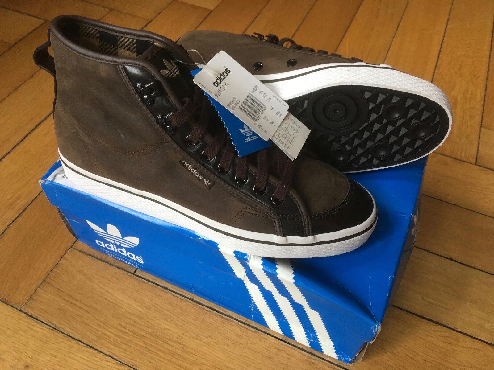 Adidas Nizza Vulc Fle Hi 44 10 9,5 Sneaker Skate Nizza dunkel braun NEU & OVP