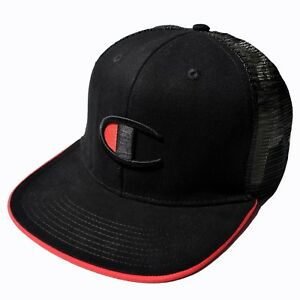 NWT Champion Big C Logo Trucker Hat Snapback Cap Rare Authentic  675562419c2