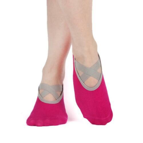 Yoga Socks Women Low Cut Anti Slip Sticky Bottom Workout Pilates Dance Slippers