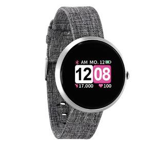 Silber Smartwatch Bluetooth Uhr Tracker Schrittzähler Puls Fitnessarmband Damen