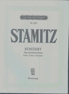 Stamitz-Konzert-Floete-und-Streichorchester-G-Dur-Klavierauszug-und-Floete
