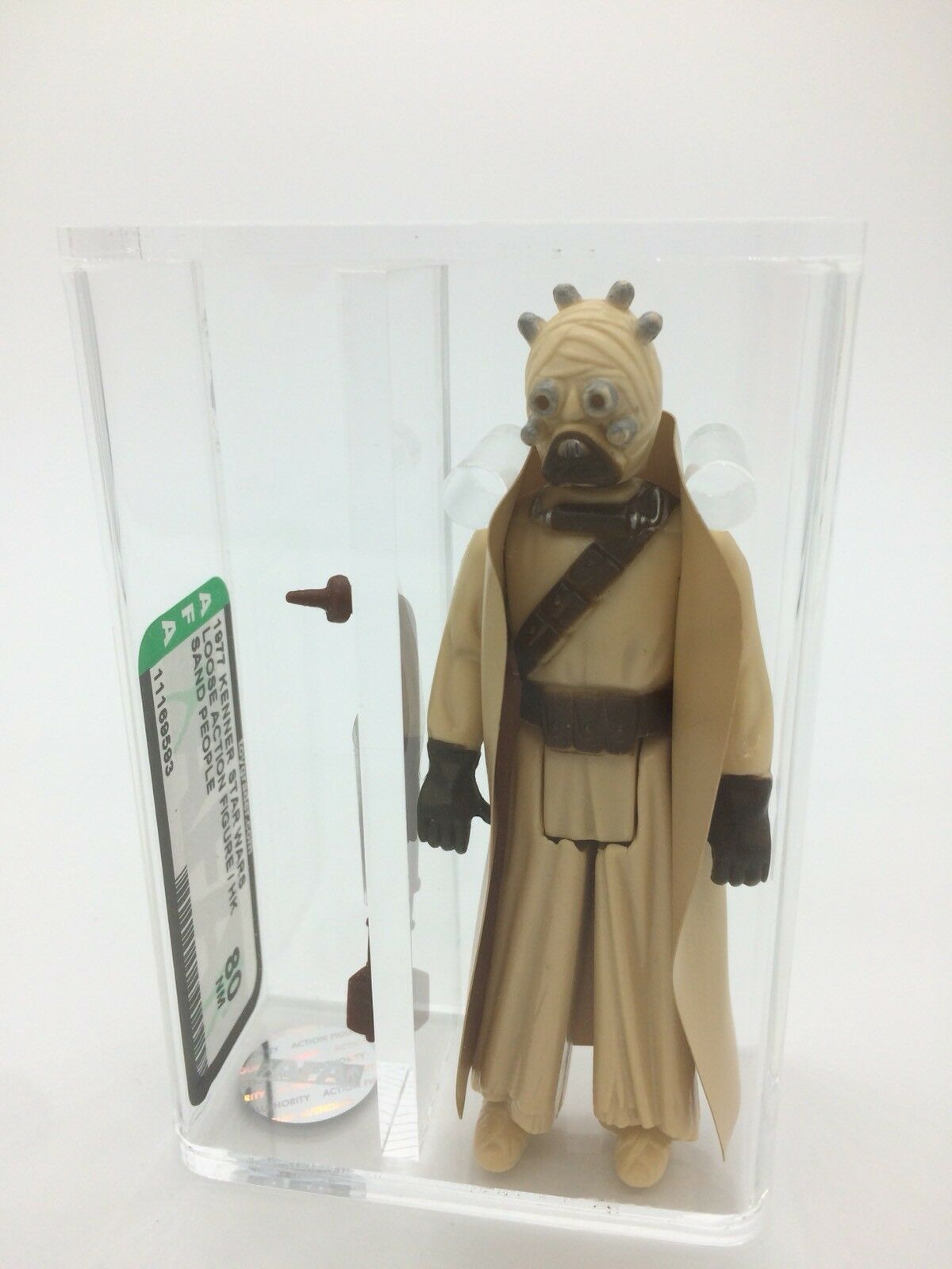 Vintage Star Wars Sand People (Tusken Raider) Kenner 1977, AFA 80