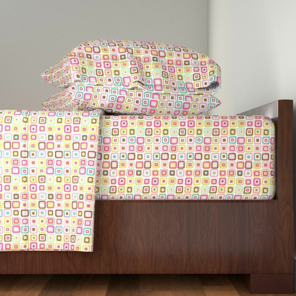 Fun Square Pattysloniger Candy Sweet Cotton Sateen Sheet Set by Roostery