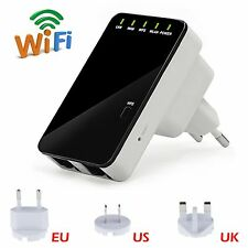 300Mbps Mini Wireless WiFi Router Repeater Range Extender Bridge Access Point