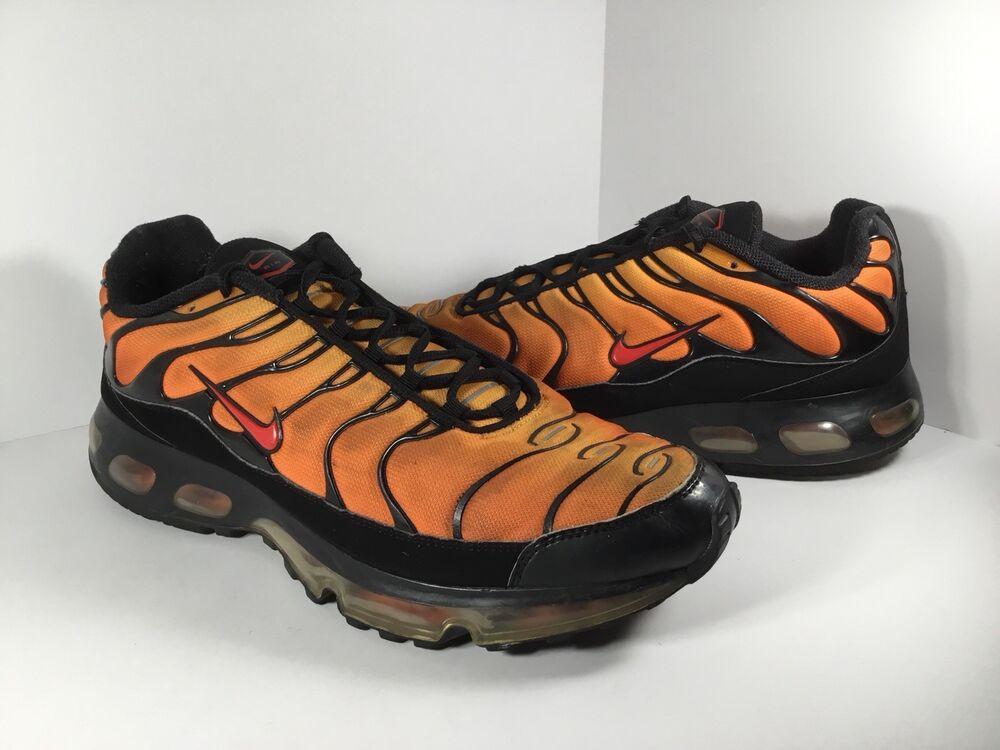 Nike Air Max Plus 360 TN Orange rouge Noir 2008 homme  Chaussures de sport pour hommes et femmes