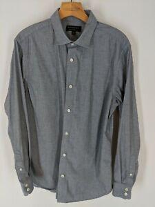 Homme-Banana-Republic-large-stretch-moulante-Slim-Fit-a-manches-longues-Button-Up-Shirt