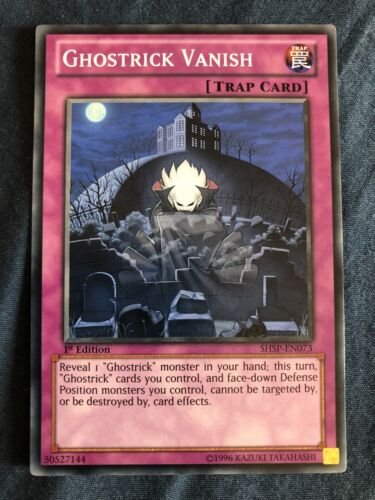 Ghostrick Vanish Yugioh Card Genuine Yu-Gi-Oh Trading Card